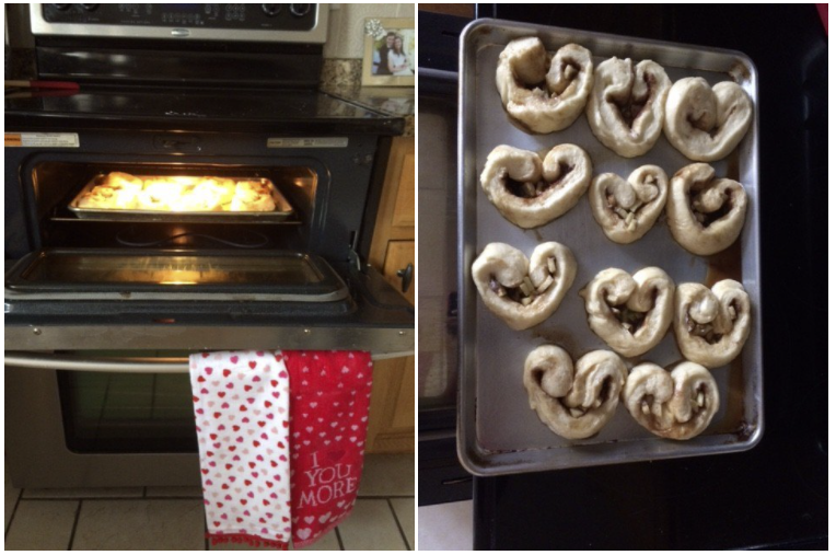 Heart Shaped Caramel Apple Cinnamon Rolls–with a dairy free option