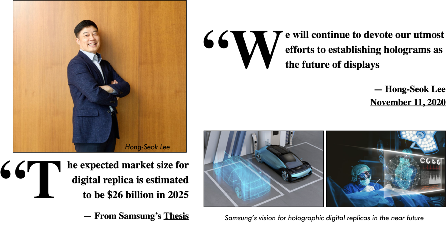 Figure 16: Reiteration of Samsung's holographic thesis. [41]