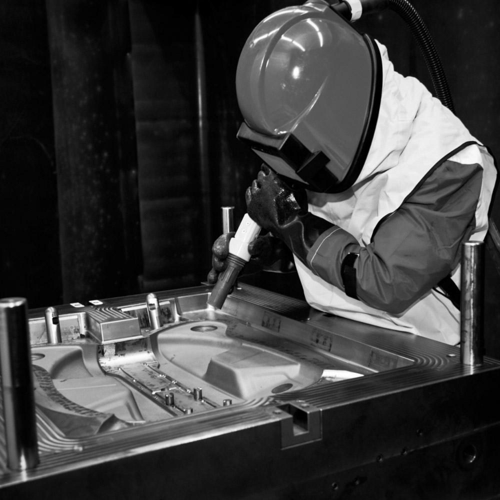 Narbungsreparaturen und Glanzgradeinstellung -1