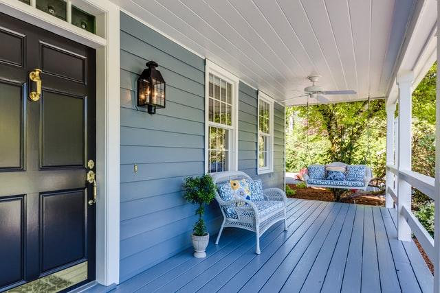 large elegant porch