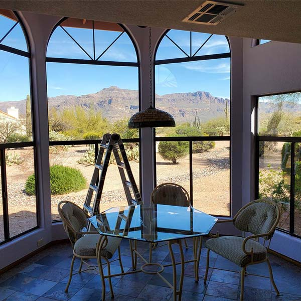Interior window cleaning in Mesa, AZ