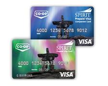 Artic Co-op Spirit Prepaid Reloadable Visa Cards