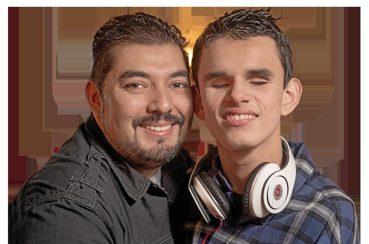 A photo of Paul Avila and Pauly Avila smiling