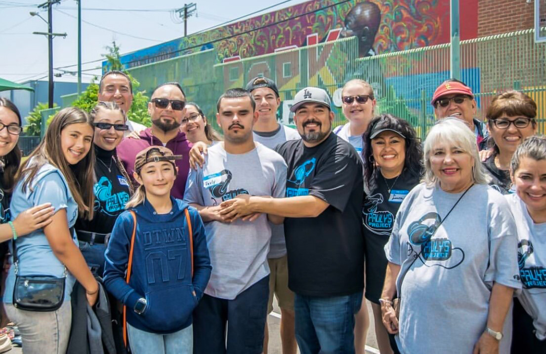 Pauly's project team on the streets of Los Angeles