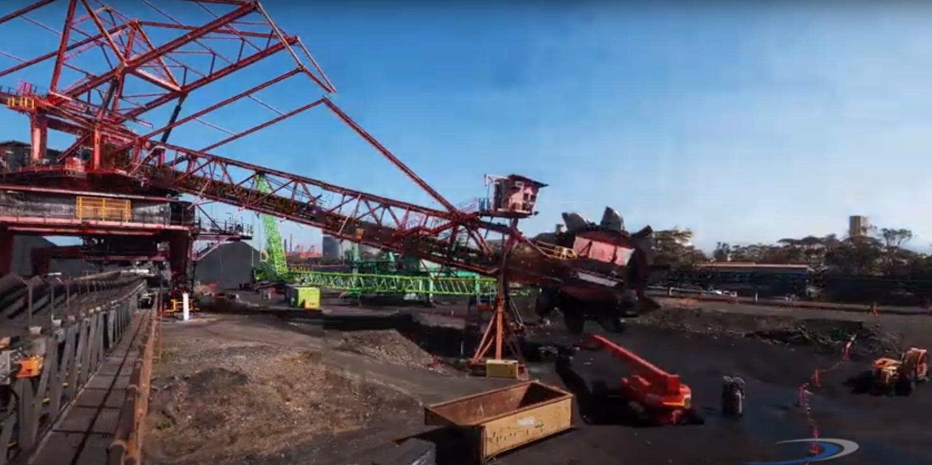 Port Kembla Stacker / Reclaimer deconstruction