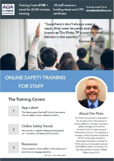 e-Safety Staff Training