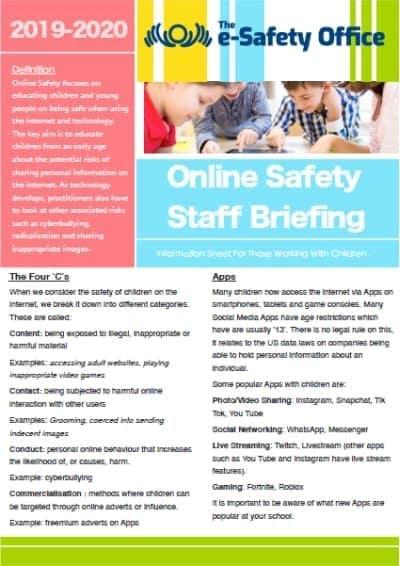 Online Safety Staff Briefing