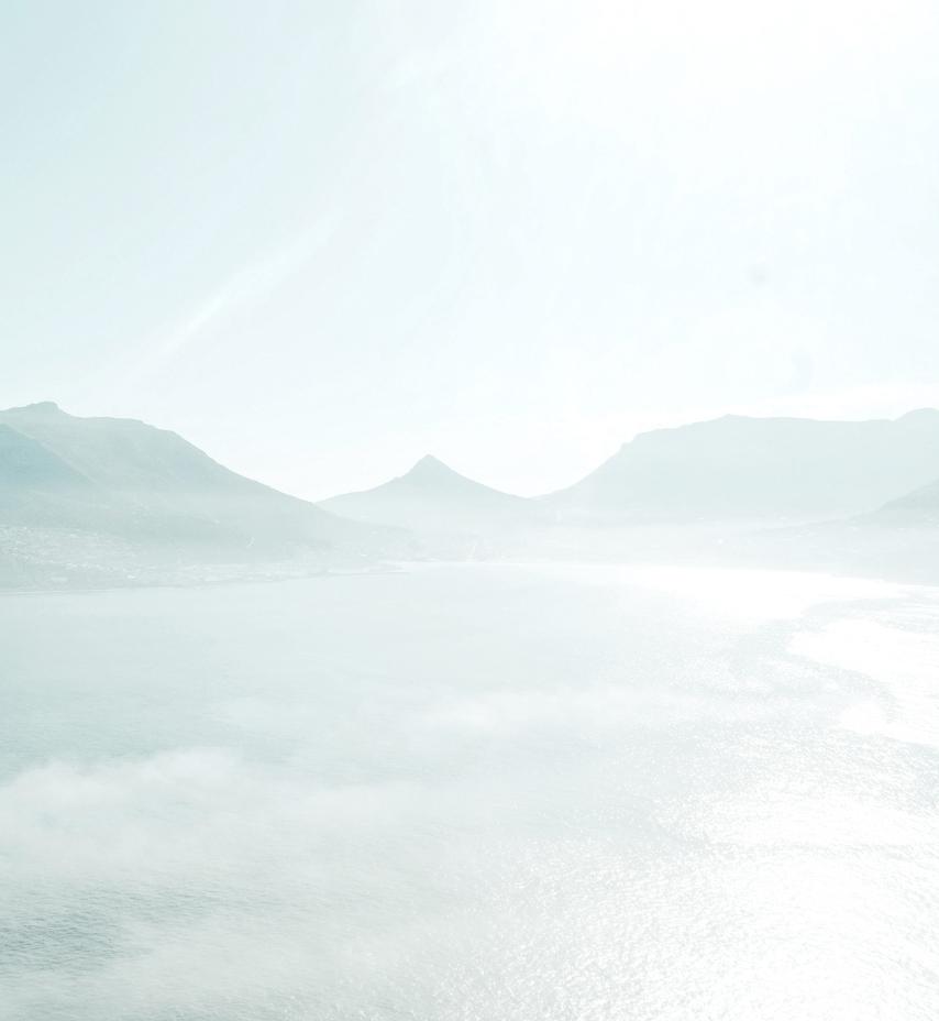 Vogelperspektive Fotografie einer Bergkette an der Küste.