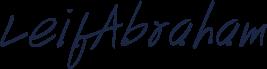 Leif Abraham signature