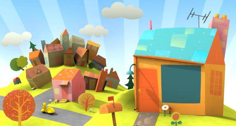 Background design for animated tv series