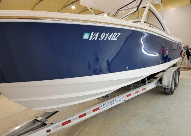 Ceramic boat coating detailing services in King George VA Revived Detailing