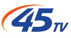 45 TV Channel Logo