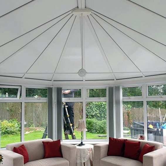a conservatory in kent with new solid insulated conservatory roof panels