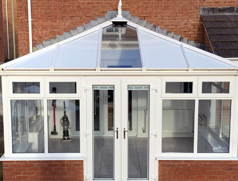 Another beautiful conservatory roof from Morespace. Insulated solida panels and tiled conservatory roofs across East Sussex, West Sussex, Surrey and kent