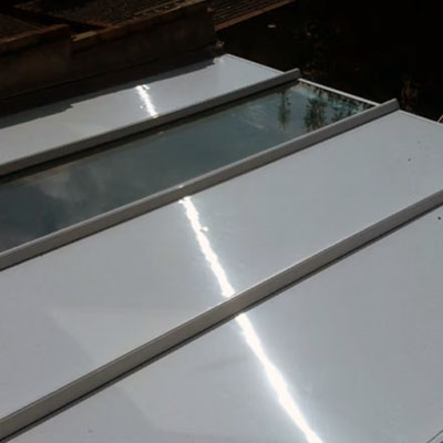 part glazed and part insulated conservatory roof replacement panels in Portslade, East Sussex