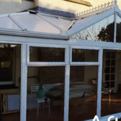 new insulated solid roof panels fitted to a conservatory in Bexhill-on-Sea, East Sussex