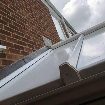 old conservatory roof replaed with insulated thermal panels in Bromley, Kent