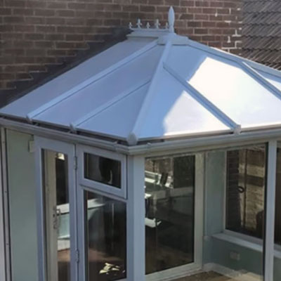 a cold conservatory improved with insulated roof panels in Saltdean, East Sussex