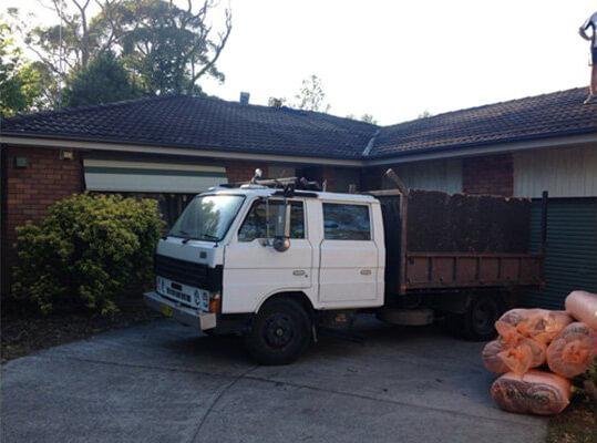 Company service load truck