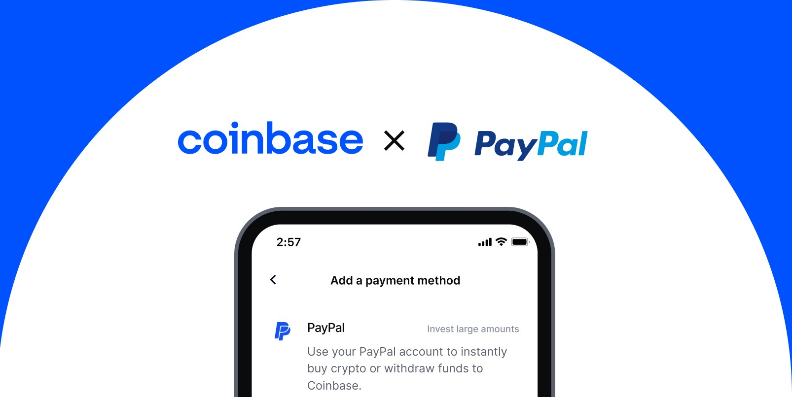A new way to buy crypto on Coinbase using PayPal | by Coinbase | Apr, 2021  | The Coinbase Blog
