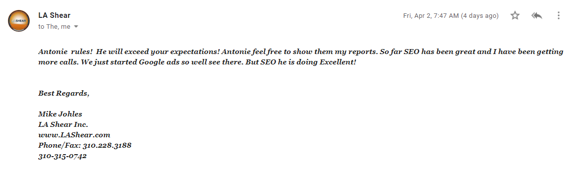 white label seo clients testimonials