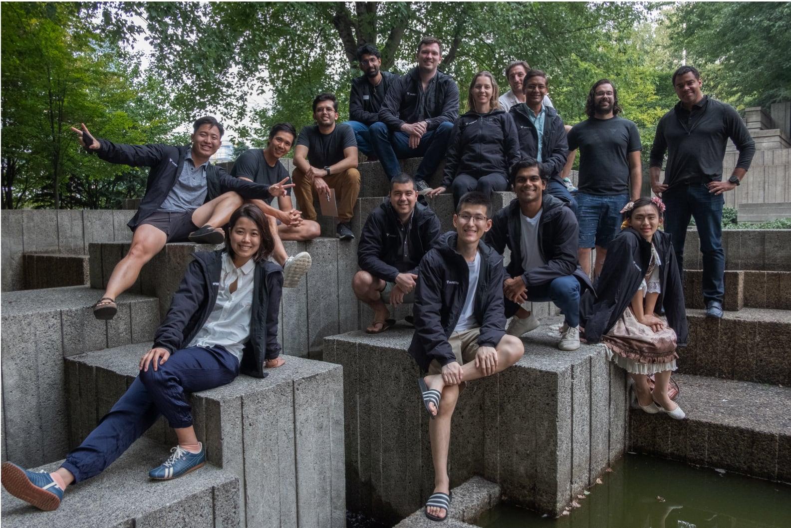 A photo of the Vareto team from a company retreat