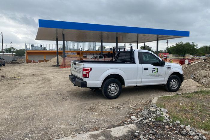 New business construction in San Antonio.