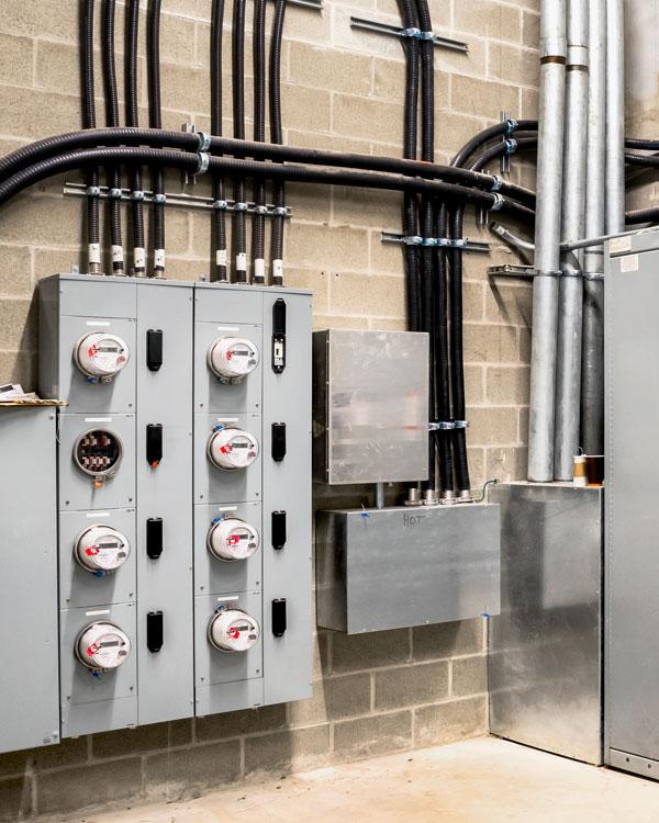 High voltage electricity system in San Antonio.