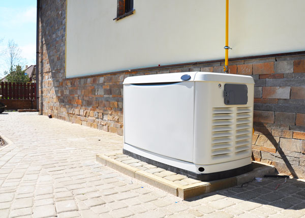 A generator installation in a residence in San Antonio.