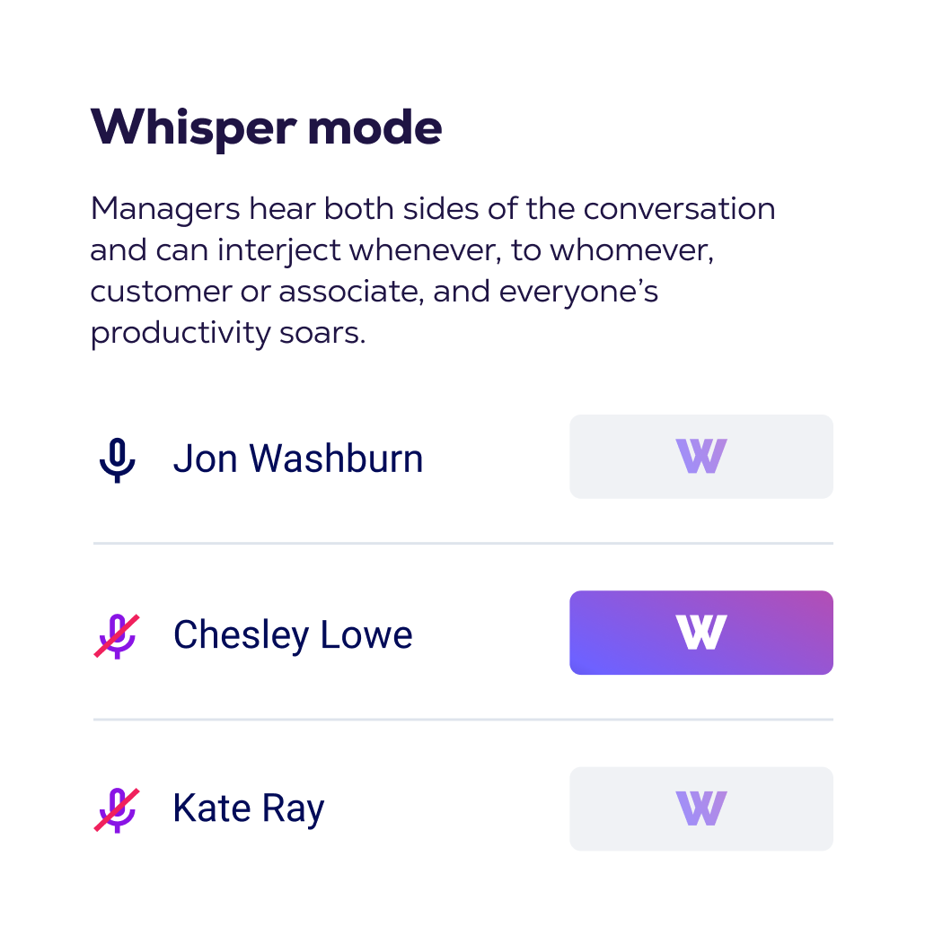 Whisper mode interface preview