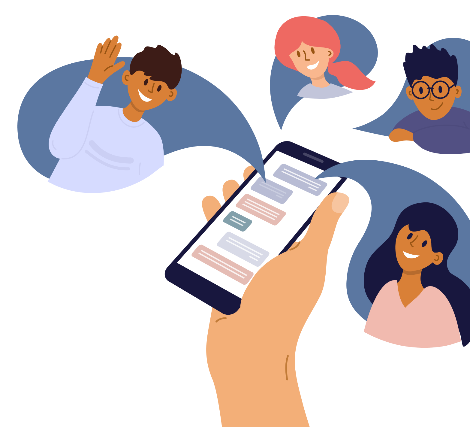 Text message speech bubble illustration
