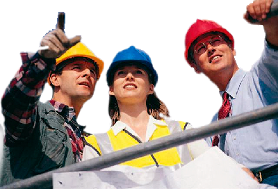 people in hardhats