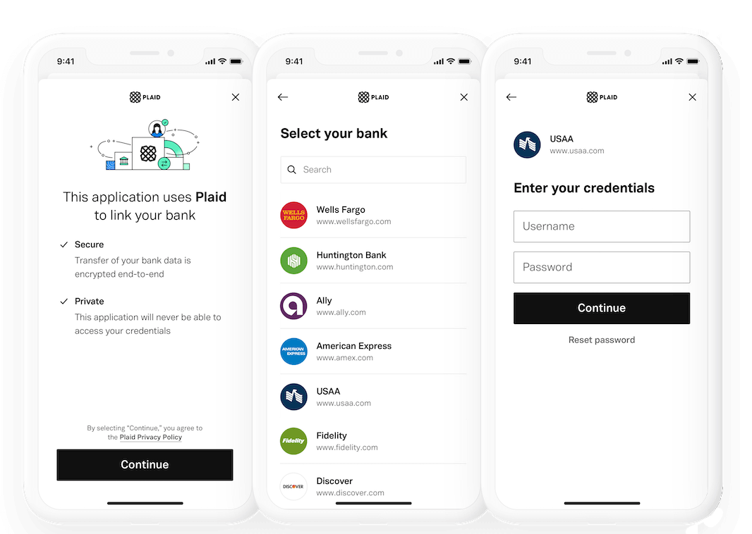plaid-setup-mobile-screenshot