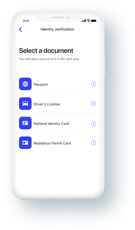 identity-verification-setup-mobile-screenshot