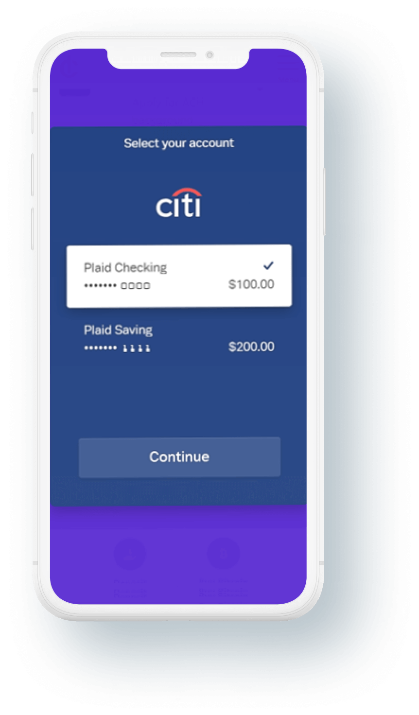 cryptodispensers-mobile-bank-account-select