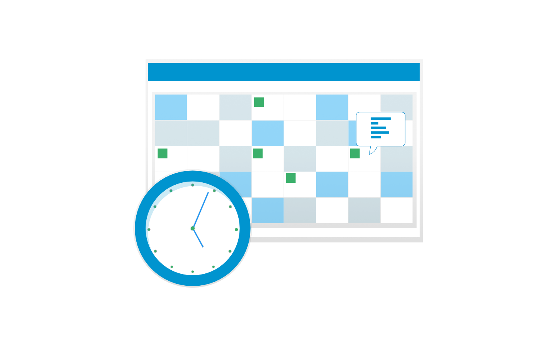 Calendar and Clock image