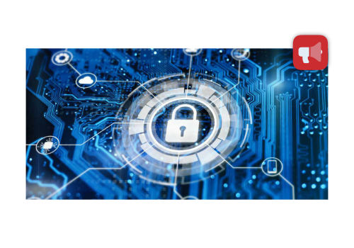 Technology background with padlock