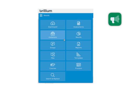 New Brillium Navigation menu