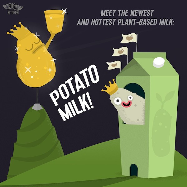 Meet the newest and hottest plant-based milk: Potato Milk!