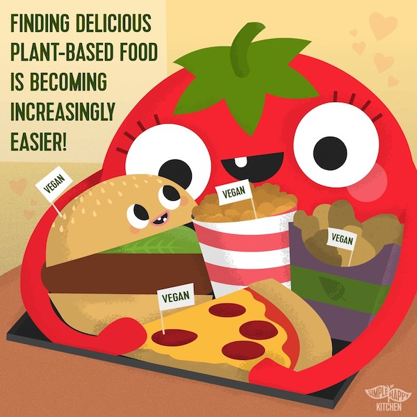 Finding delicious plant-based food is becoming increasingly easier!