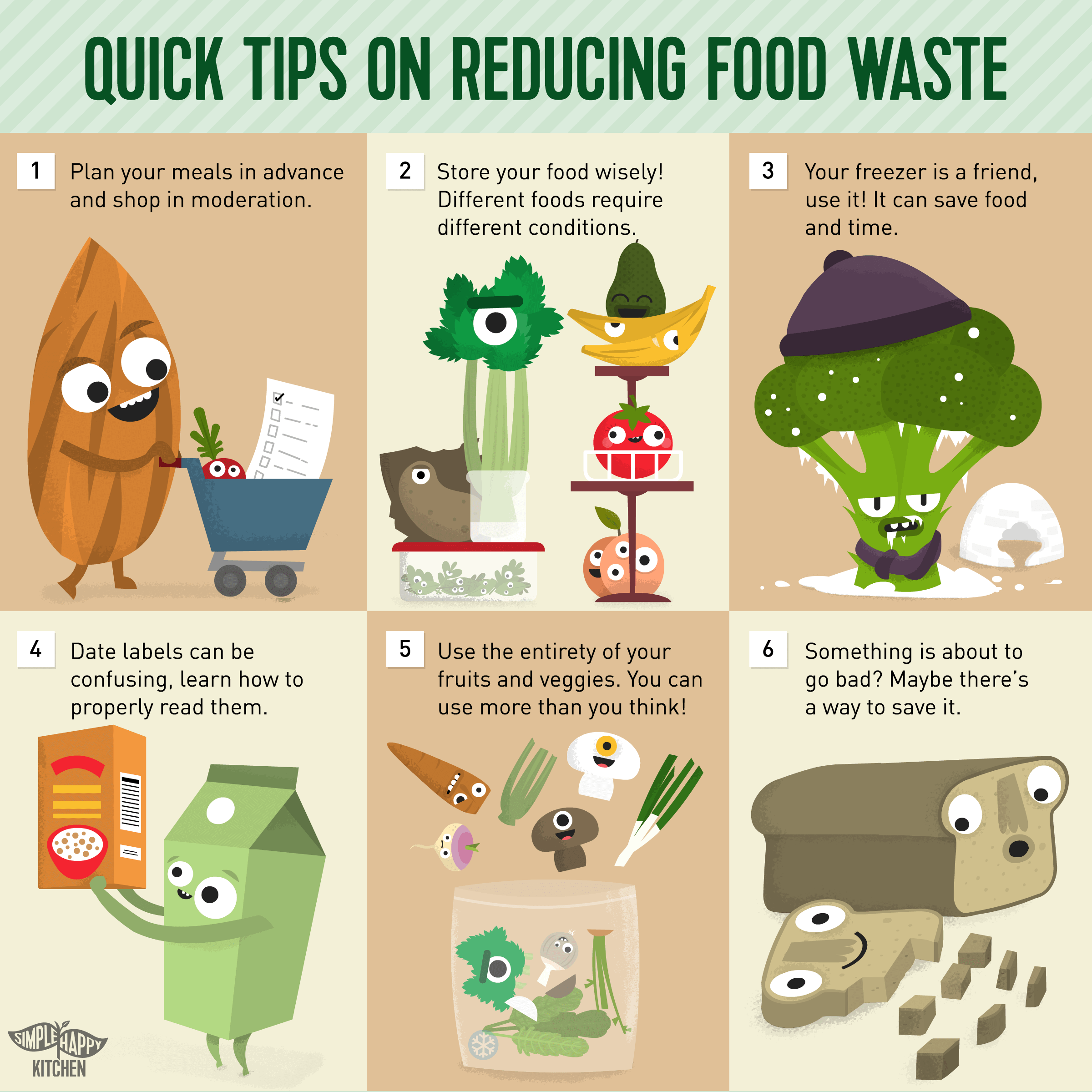 Food loss and waste is a global issue. Here are a few easy ways to fight it!