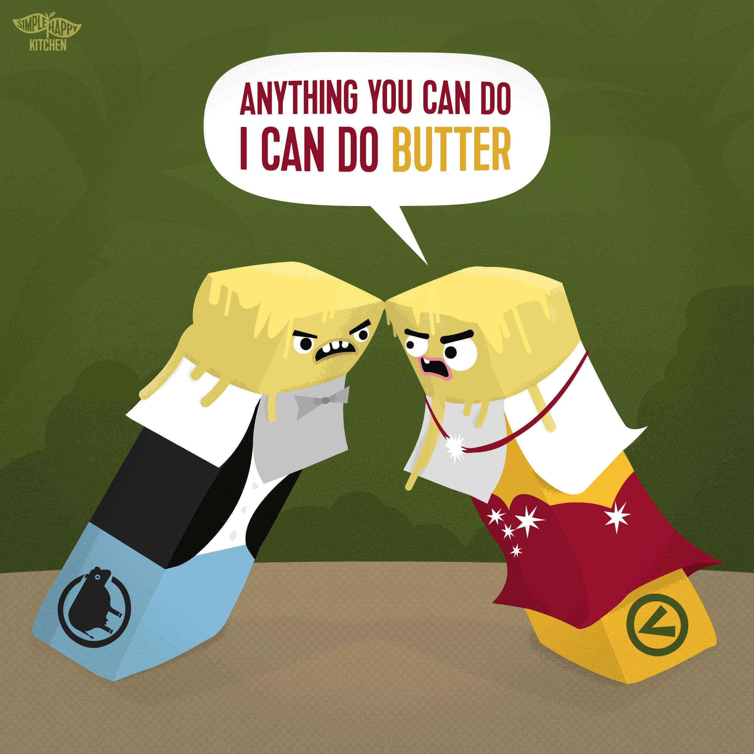 Vegan butter vs Non-vegan butter