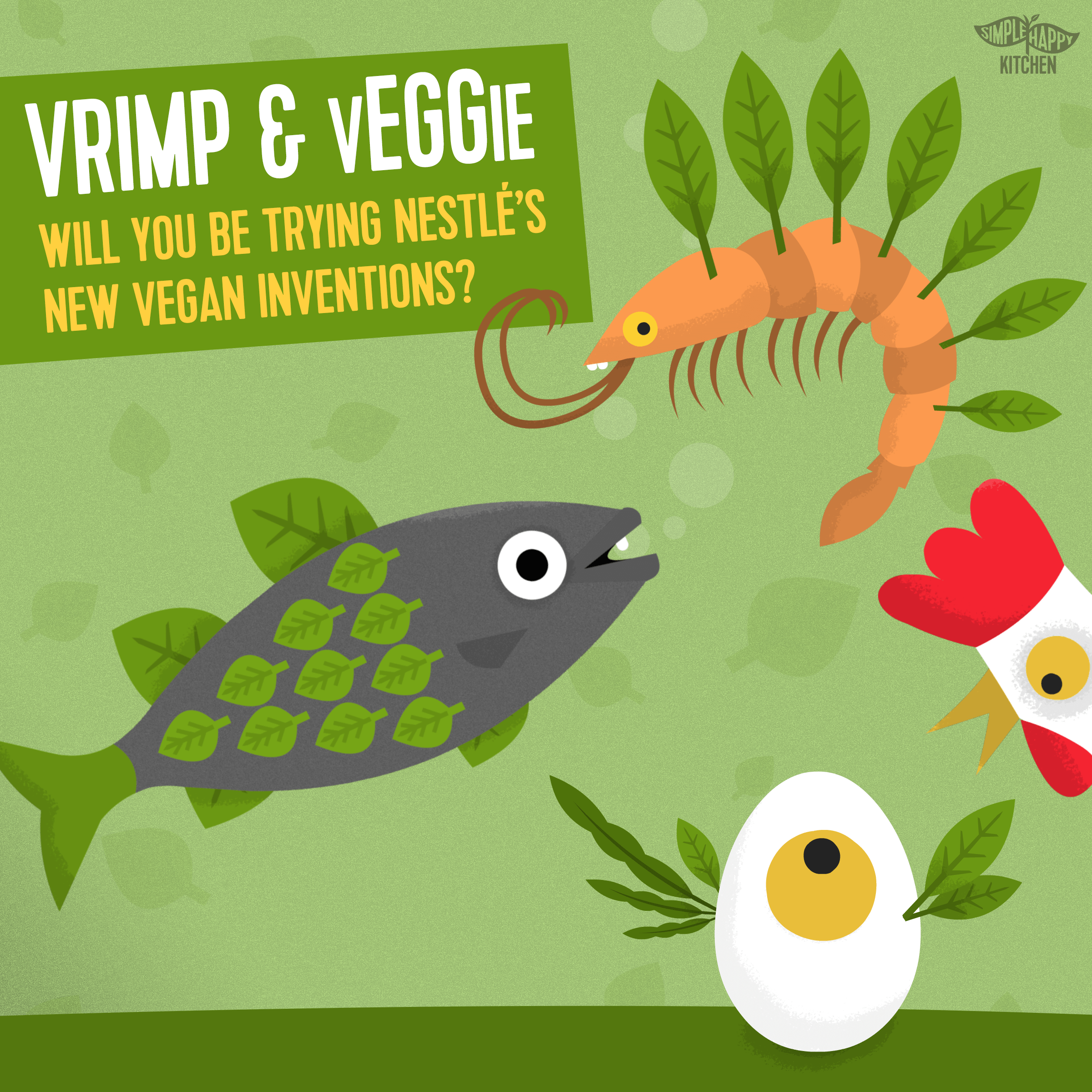 Vrimp and vEGGie: will you be trying Nestlé's new vegan inventions?