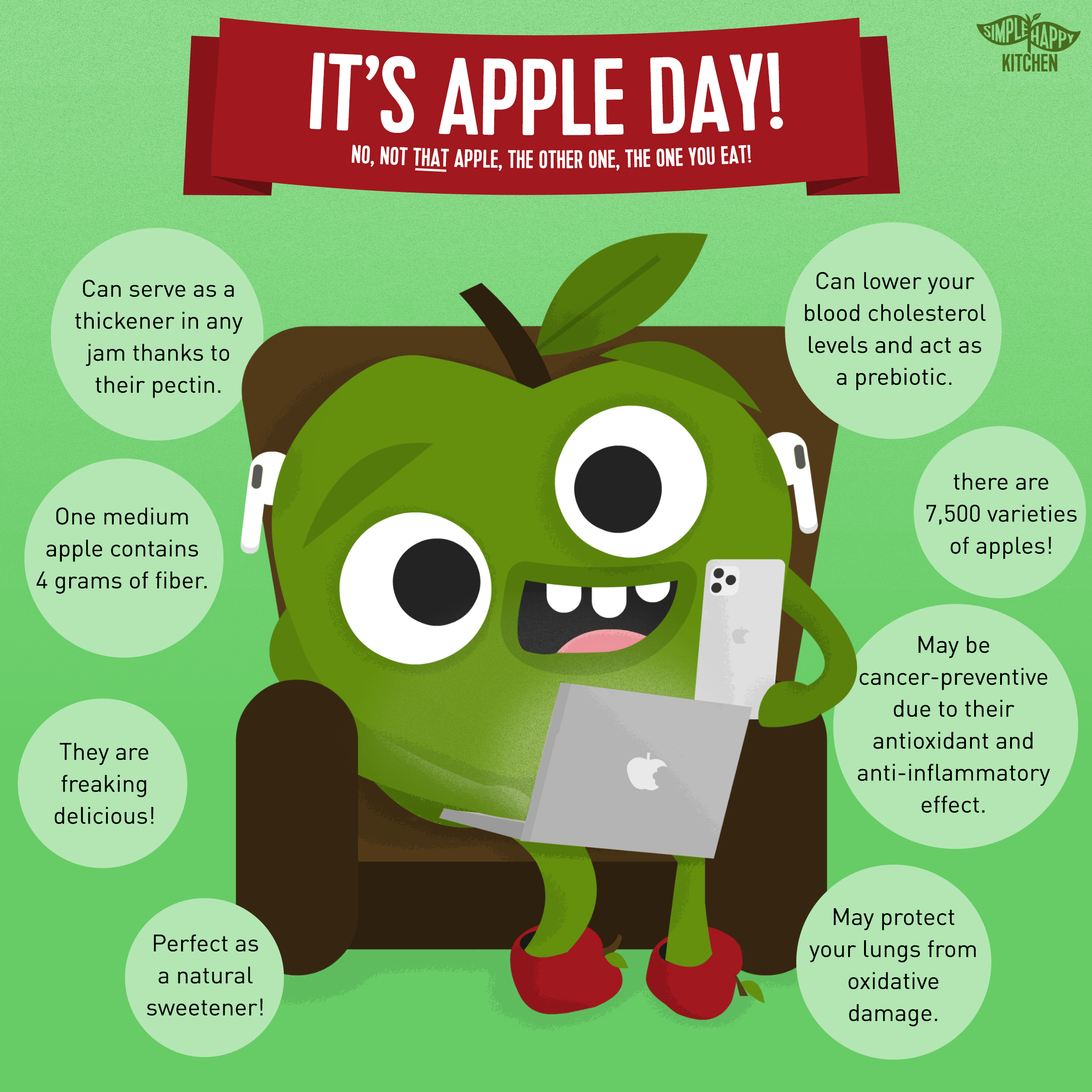 It's apple day! No, not that apple, the other one, the one you eat!