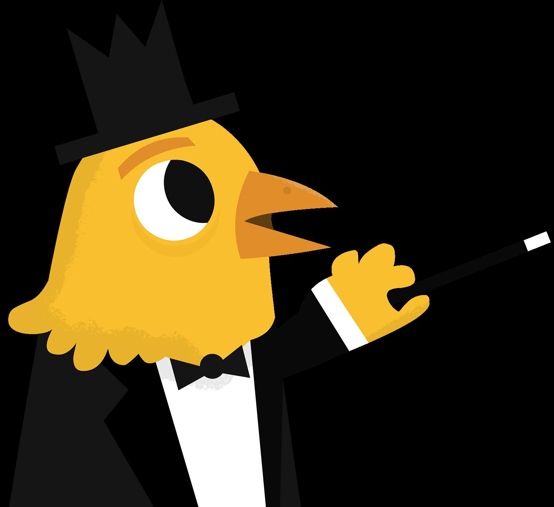 A chicken magician