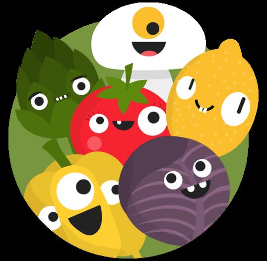Vegan food group - vegetables