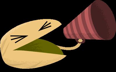 Pistachio announcing something