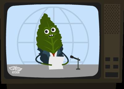 Kale on TV news