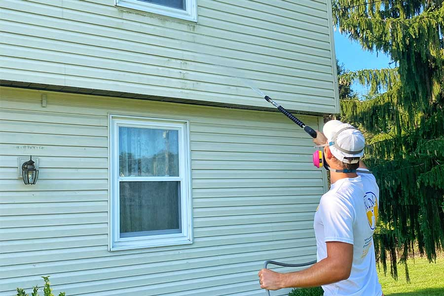 House washing by A.M Window, Gutter, Pressure Cleaning in North Pittsburgh