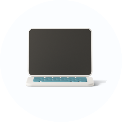 laptop icon in 3D